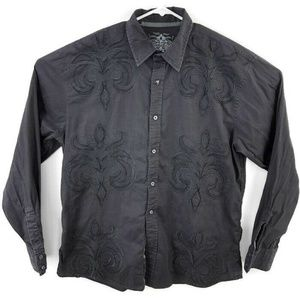 Roar Embroidered L/S Button Down Shirt